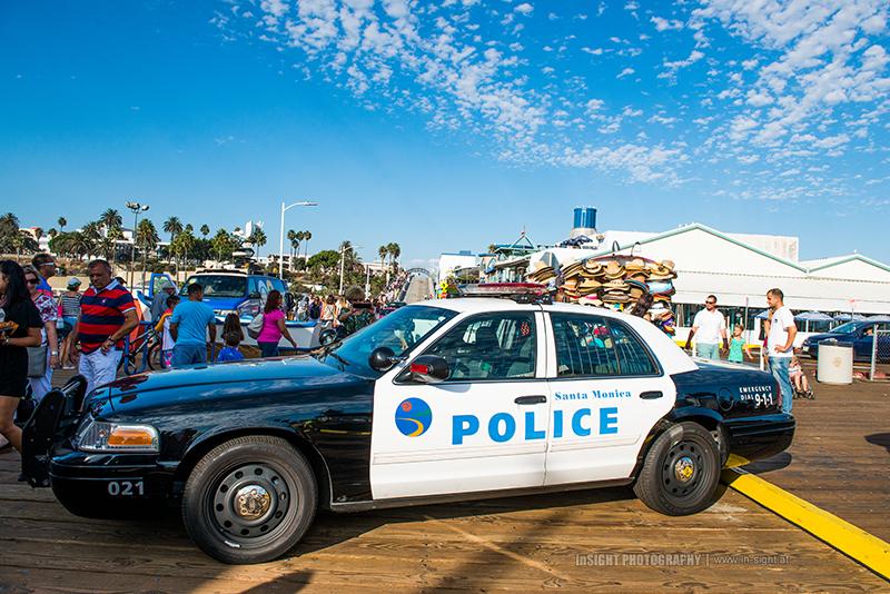 Police car Santa Monica Pier