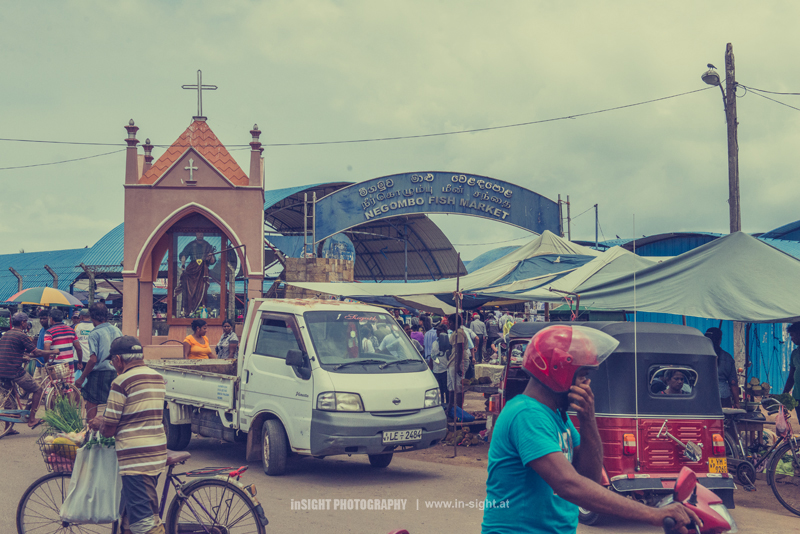 Negombo Fishmarket - entrance
